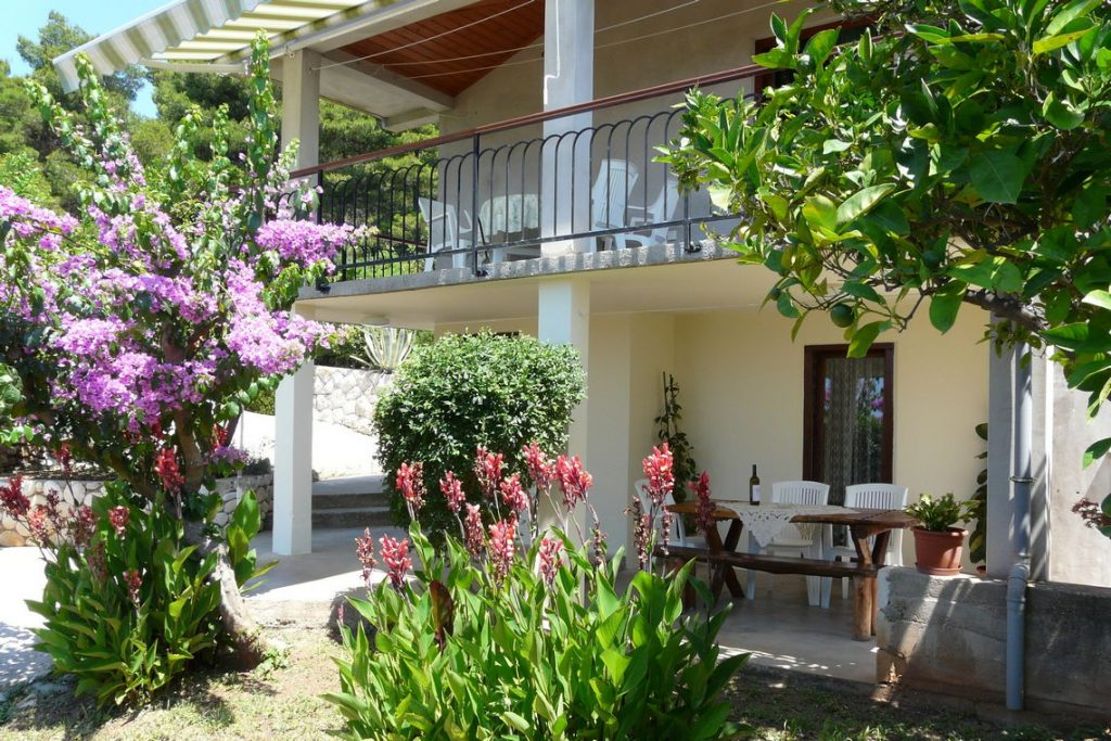 Front Of The Andreis Korcula House For Rent in Prizba